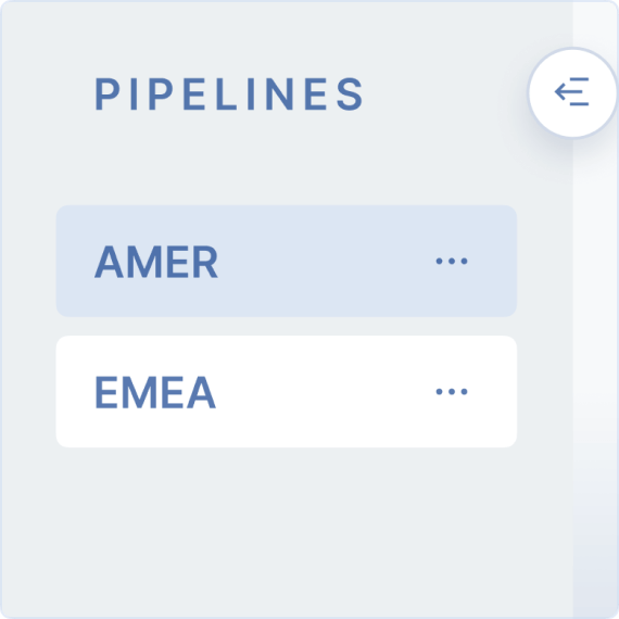 Create multiple pipelines and switch between them